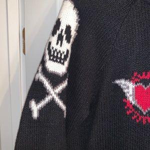 Torrid Rose Skull ZIP Up Hoodie Sweater